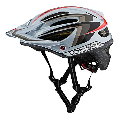 Troy Lee Designs Adult | Limited Edition | Trail | Cycling | Mountain Bike A2 MIPS Mirage Helmet (Gray, XL/XXL)