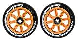 Par de ruedas para patinete Team Dogz, núcleo de nailon 100mm, con rodamientos ABEC 7en colores a elegir, se adapta a Slamm, Razor, MGP, Grit y JD Bug, Orange Core Black PU