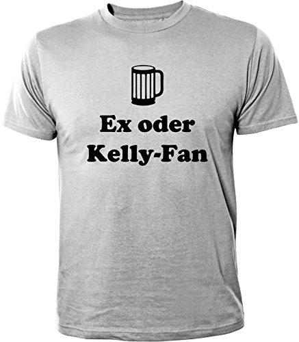 Mister Merchandise Witziges Herren Männer T-Shirt Ex oder Kelly-Fan Kelly Fan Family Saufen Party, Größe: XXL, Farbe: Grau