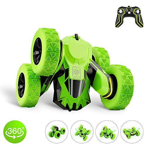 STOTOY RC Cars Stunt Car Toy, 4WD 2.4Ghz Remote Control Car Rotating Double Sided Vehicles 360° Flips, Kids Toy Cars for Boys & Girls Gifts