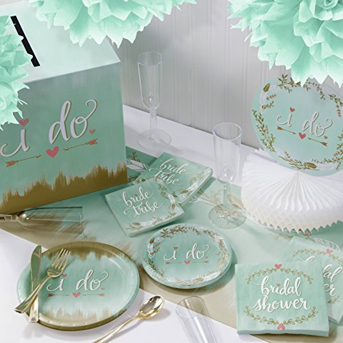 Great Deal! Mint to Be I Do Deluxe Party Supplies Kit, Serves 8