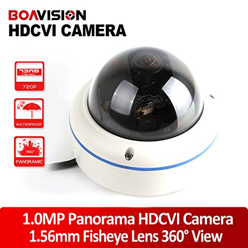 25/30FPS Dome Camera,1MP 1280720P Panorama 180/360 Degree Outdoor Fisheye HDCVI Camera With 1.56MM Lens,Metal Housing
