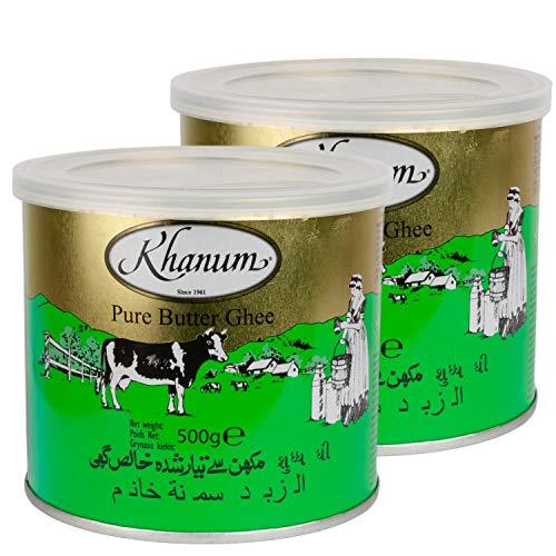 Khanum Ghee Bestes Butterfett im 2er Set á 500 g