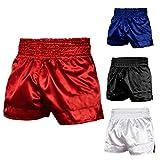 Roar Muay Thai Shorts MMA Gym Boxing Fighting UFC Trunks Kick Martial Arts Gear (Red, XLarge)