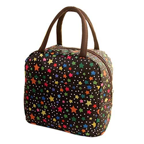 Mzdpp Lunchpaket Fashion Thermal Insulated Tote Student Picknick Lunchpaket Wasserdichte Handtasche Pouch Haushaltszubehör, B