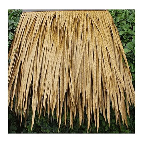Paja artificial de palma Teja de paja de plástico Pvc artificial Paja falsa Cama y desayuno Decoración de techo de granja Rollo de paja falsa (color: amarillo A) ( Color : Yellow e , Size : 4pcs )