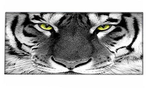 Silent Monsters Alfombrilla ratón Ordenador tamaño XXL (900 x 400 mm), Mouse Pad Grande, diseño Tigre, Adecuado para ratón de Oficina y para Gaming