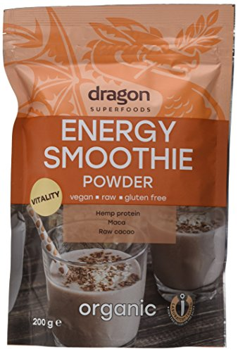 Dragon Superfoods Bio Energy Smoothie, Shake Pulver, Rohkost, 1er Pack (3 x 200 g)