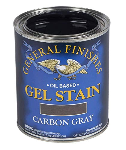 General Finishes Oil Base Gel Stain, 1 Quart, Carbon Gray