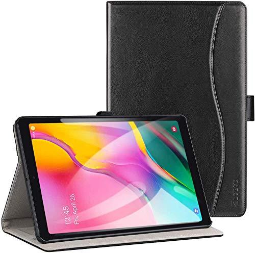 Ztot0p Funda para Samsung Galaxy Tab A 10.1 2019, piel avanzada, función atril; color negro