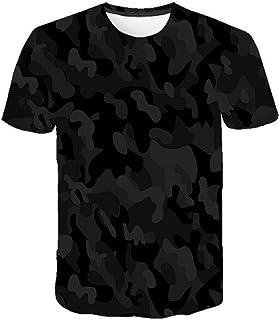 Camiseta para Hombre Moda para Hombre Deportes Fitness 23 Camuflaje Camisa 3DT de Manga Corta Camisa para camuflaje-TXA108...