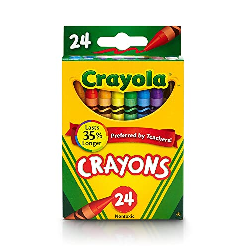 Classic Color 24 Pack Crayons, Crayons For Kids, School Crayons, Assorted Colors - 24 Crayons Per Box - 1 Box