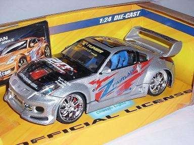 NISSAN 350Z 350 Z SILBER TUNING BELEUCHTUNG 1/24 X-TUNERS MODELLAUTO MODELL AUTO