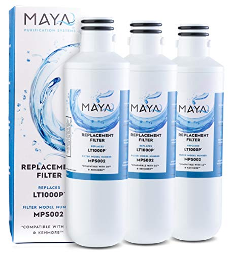 MAYA LT1000P Water Filter Replacement, Compatible with: LG ADQ747935, MDJ64844601, LMXS28626D, LT1000PC, LT-1000PC Kenmore 46-9980, 469980, 3 Pack