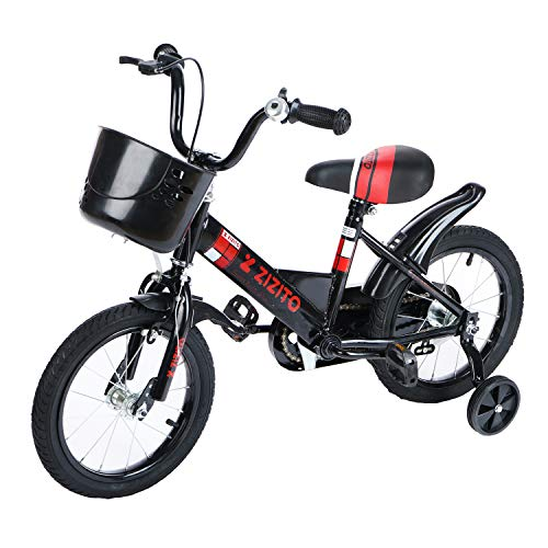 Fahrrad Kinder Fahrrad ab 3 Jahren [16 Zoll Blau/ 16 Zoll Rosa/ 14 Zoll Schwarz] Kinderfahrrad Jungen Geschenk mit Stützräder