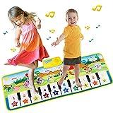 EXTSUD Piano Mat Tanzmatten Klaviermatte Musikmatte Kinder 8 Tierstimmen Klaviertastatur Spielzeug...