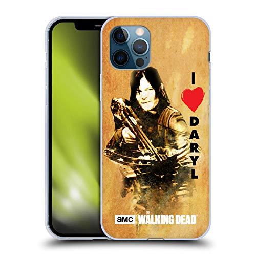 Head Case Designs Offizielle AMC The Walking Dead Daryl Armbrust Typografie Soft Gel Handyhülle Hülle Huelle kompatibel mit Apple iPhone 12 / iPhone 12 Pro