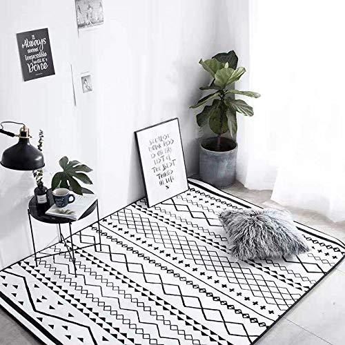 Böhmischer Teppich Einfacher Retro-Teppich Große Bodenmatte Wasserdichte Und Rutschfeste Spielmatte Spielmatte Kinderteppich Bodenteppich Yoga-Matte Für Wohnzimmer Schlafzimmer,95x95cm(37x37inch)