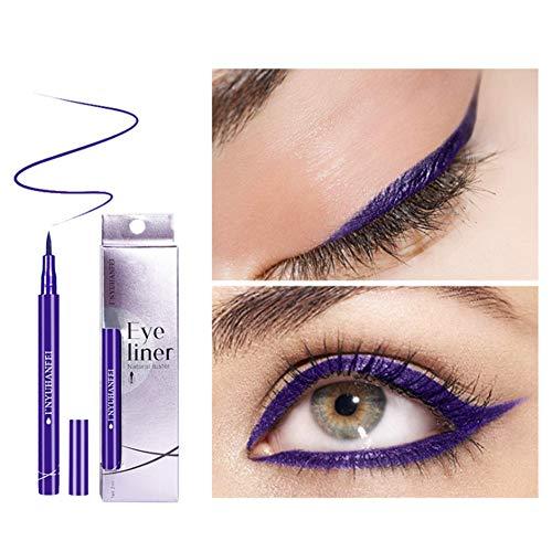 Allbesta Matte Liquid Bunt Eyeliner Schwarz Braun Blau Lila Wasserfest Eye Liner Make-up Long-Lasting
