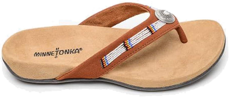 Minnetonka Womens Brown Minnie Flip Flop