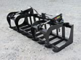 Skid Steer Loader Compact Tractor 72' Dual Cylinder Root Grapple Attachment