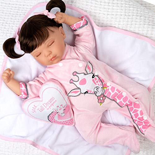 Paradise Galleries Reborn Toddler Doll with Heartbeat- Sleeping Tall Dreams, 20 inches, SoftTouch Vinyl, Weighted Body, for Kids 3+