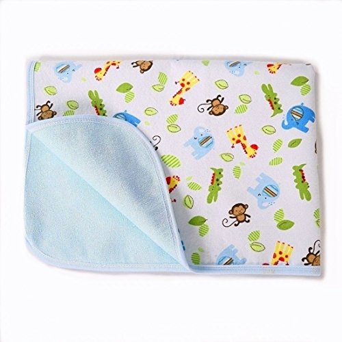 Portable Changing Pad Waterproof Diaper Change Mat Large Size Multi-Function [Home & Travel] Mat Any Places Bed Play Stroller Crib Car Mattress Pad Cover (Monkey & Elephant, XL (27.56 x 47.2 Inch)