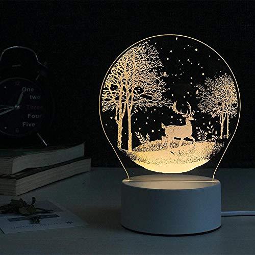 Creative ins girl heart unicorn night light girl dormitory bedside bedroom table lamp Nordic dream romantic-Ciervos de la selva