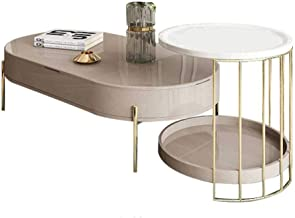 Lift-up Top Coffee Table & Nightstand Set, Wood & Metal End Table, Hidden Storage and Lift Tabletop Dining Table,Computer ...