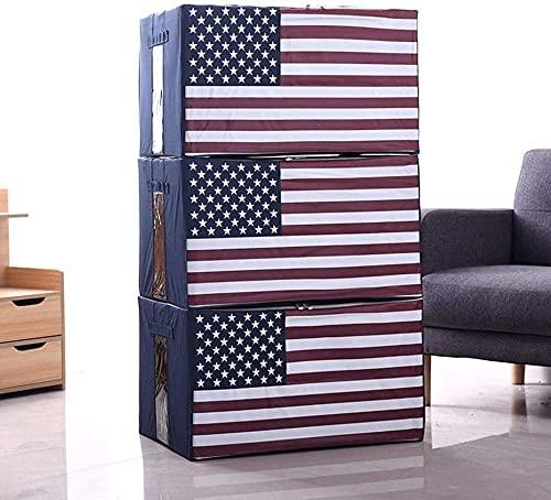 Bolsa de almacenamiento de ropa, grande, 3 unidades, 66 L, plegables, bolsas de almacenamiento para edredones, mantas con asas y ventana (color: CC)-Dd