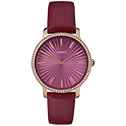Burgundy/Gold-Tone Metropolitan Starlight 40mm Watch