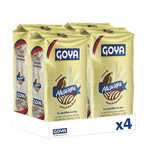 Goya Masarepa Blanca . Molida Y Precocida - 4 Unidades X 1kg 4000 G, 1000 Gramo