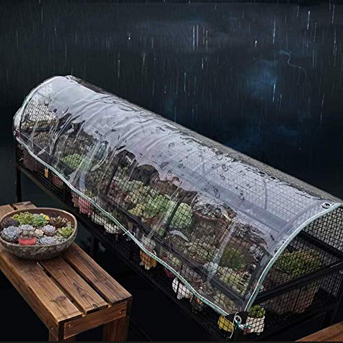 ZKORN Waterproof Shade Net, Waterproof Transparent Tarpaulin Shed Cloth for Greenhouse Rainproof with Grommets Thicken Clear Tarp Sheet Covers
