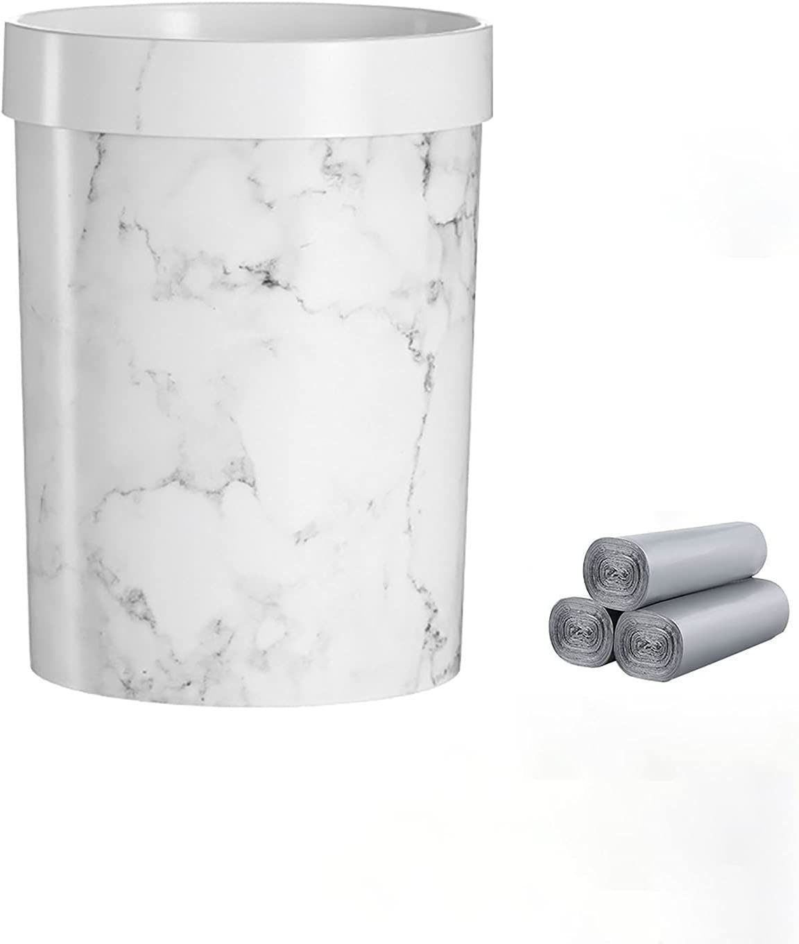 Trash shopping Can Price reduction Bathroom Marble Light Household