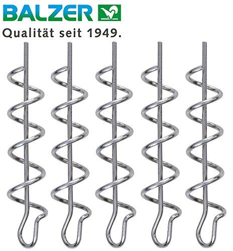 Balzer Shirasu Cork Screw - 5 Spiralen für Gummifische & Jigs, Schraubspiralen für Gummiköder, Screws für Softbaits, Größe:L