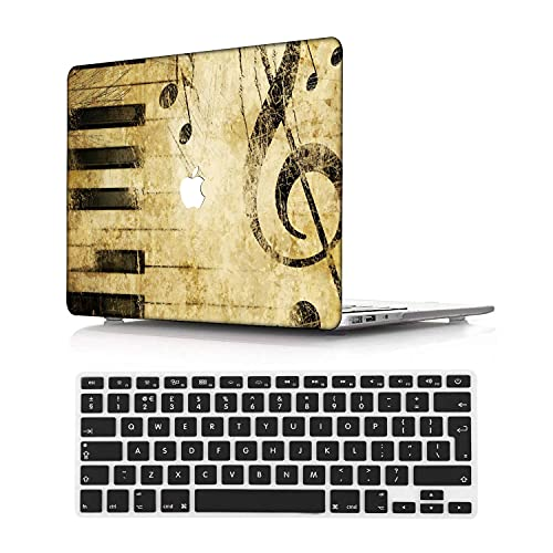 NEWCENT Newest MacBook Air 13' Case,Plastic Ultra Slim Light Hard Case UK Keyboard Cover for Newest MacBook Air 13 inch with Retina Display Touch ID 2020 Release(Model:A2337 M1/A2179),Creative A 3