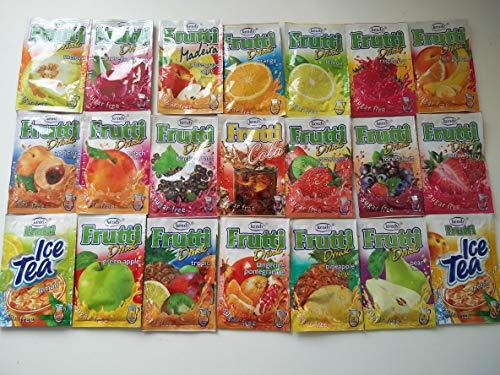 Frutti Instant Getränkepulver ohne Zucker - KENNENLERNPAKET 21 Sorten