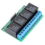 Yosoo リレーモジュール トリガーラッチ 継電器 リレーラッチ セルフロックリレー フリップフロップ 4チャンネル 5V 低パルストリガモジュール 双安定 フリップフロップラッチリレー