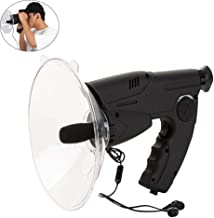 MY-COSE Parabolic Microphone 8X Bionic Ear,Bird Observing Listening Device Sound Amplifier,Replaceable TF Card,Science Nat...