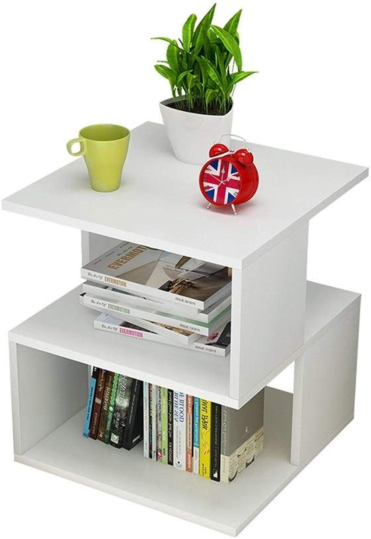 LQQFFCreative Table Living Room Storage Table, Minimalist Mini Coffee Table, Desk, (color   White)