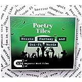 Poetry Tiles - 536 Horror, Fantasy, SciFi Themed Fridge Word Magnets - Gift Kit for Refrigerator Poems and Stories