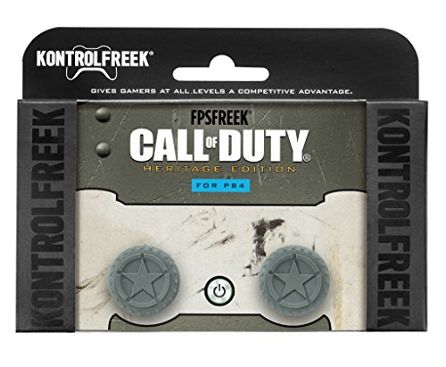 KontrolFreek FPS Freek Call of Duty WWII Heritage Edition for PlayStation 4 (PS4) Controller | Performance Thumbsticks | 1 Mid-Rise, 1 High-Rise Concave | Green