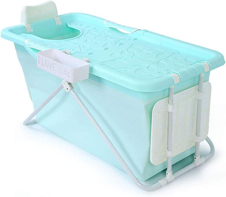 Badewannen Barrel Erwachsenen Falten Kinder zu Hause Bad Barrel Aufbewahrungsbox (Farbe   Blau, Größe   50  110  53cm)
