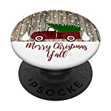 Red Truck Cute Christmas 2019 Gift for Wife Mother Mom Women PopSockets PopGrip: Swappable Grip for Phones & Tablets