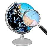 Globo terráqueo iluminado, globo terráqueo LED de escritorio 2 en 1 USB AnGeer, globo terráqueo interactivo con mapa mundial y vista de constelación, perfecto para regalar