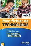 Mon fichier de technologie Cycle 4 2019