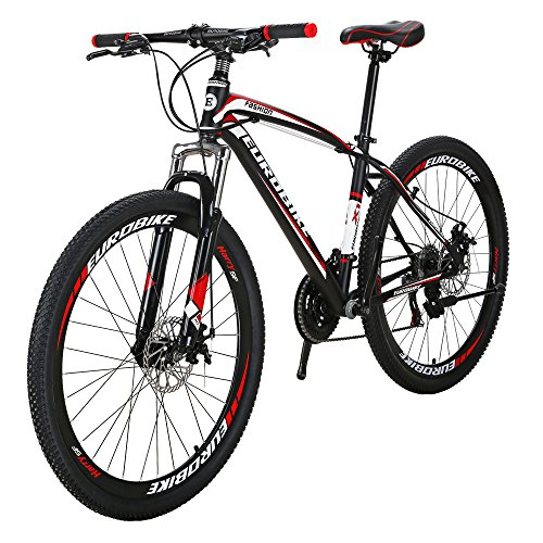 Eurobike EURX1 27.5 Inch Wheels Mountain Bike 21 Speed MTB Bicycle Suspension Fork Mountain Bicycle...