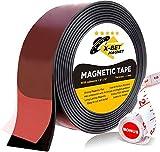 Cinta Magnética - Imán Flexible - Banda Imantada 3,8 cm x 3 m - Imán Autoadhesivo con Adhesivo Fuerte - Rollo Magnético - Imán Flexible Adhesivo
