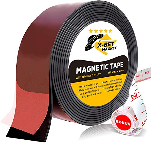 Flexible Magnetic Tape - Wide 3,8 cm x 3 m Magnetic Strip with Strong Self...