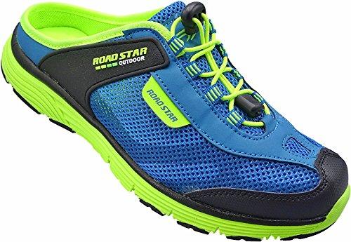 Damen Sabots Schuhe Sandalette Pantoletten Slipper Gr.36-41 Art.Nr.1699 blau-grün (38)